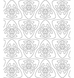 Black and white abstract flowers print patern vector image