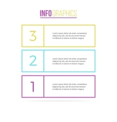 Business infographics List with 3 parts vector
