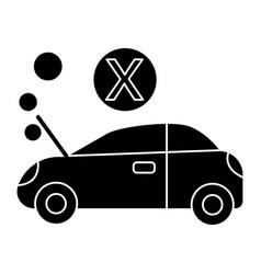 car broke icon black sign on vector image