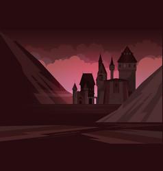 Castle flat vector