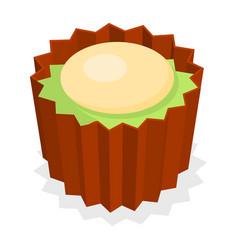 Choco pancake icon isometric style vector