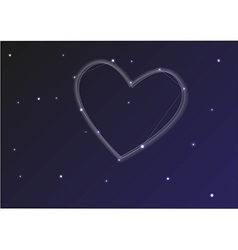 Constellation heart vector