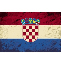 Croatian flag Grunge background vector