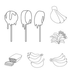 design of organic and potassium logo set vector image