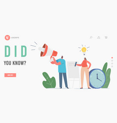 Did you know megaphone announcement ads vector