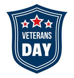 emblem veterans day logo flat style vector image