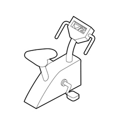 Exercise bike icon outline style vector image