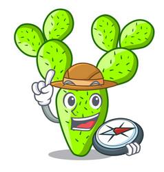 Explorer beautiful opuntia cactus in the garden vector