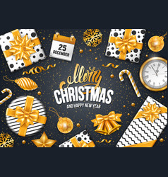 festive christmas greeting card vector image