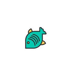 fish icon design gastronomy icon design vector image