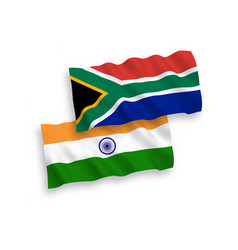 Flags india and republic south africa vector
