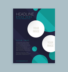 Flyer brochure template design with circles vector