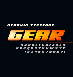 Futuristic alphabet design typeface letters and vector