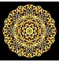 Geometric pattern mosaic banner of shape vector