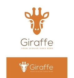 Giraffe Head Logo vector