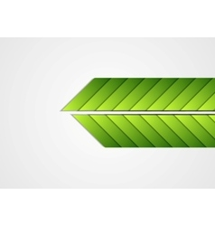 Green arrows abstract corporate background vector