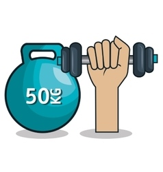 gym traininig hard isolated icons vector image vector image