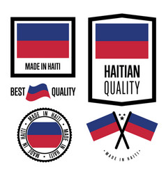 Haiti quality label set for goods vector