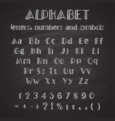 hand drawn latin alphabet vector image