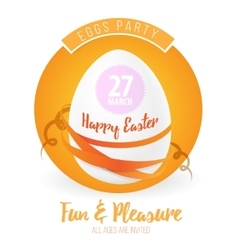 Happy easter flyer or poster background vector image
