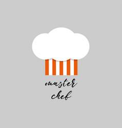 hat cook logo chef hat logo for your design vector image