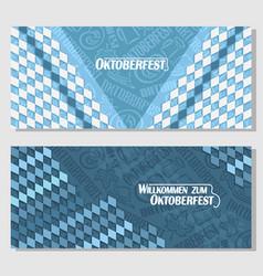 horizontal banners for oktoberfest vector image