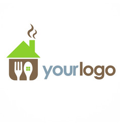 House cook food logo vector
