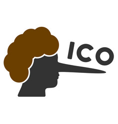 ico lier flat icon vector image