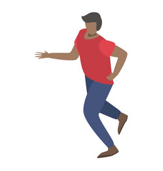 imigrant man running icon isometric style vector image