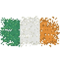 Irish grunge tile flag vector image