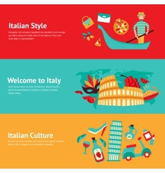 Italy banner set vector image