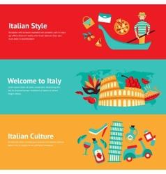 Italy banner set vector