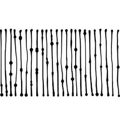liquid organic black stripe lines pattern on white vector image