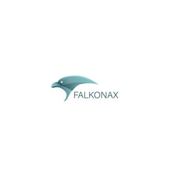 logotype with falcon head and company name vector image