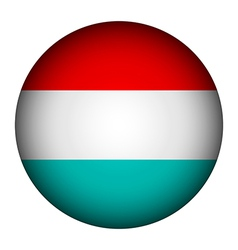 Luxembourg flag button vector image