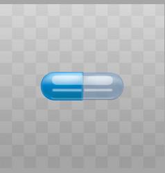 medical drug capsule or antibiotic pill vector image