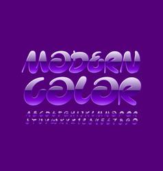 modern violet color font artistic font vector image