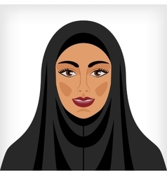 Muslim woman in chador vector image