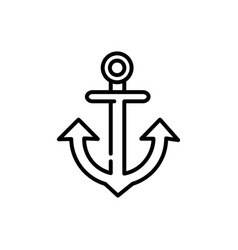 nautical anchor tourism travel thick line vector image