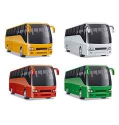 new modern comfortable city buses vector image
