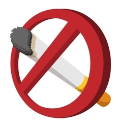 No smoking sign cartoon icon vector