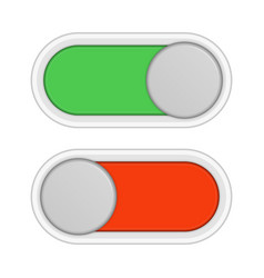 On and off slider buttons vector