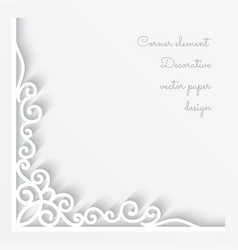 Paper corner ornament vector