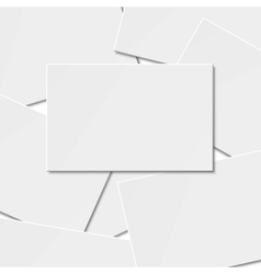 Pile of blank business card vector