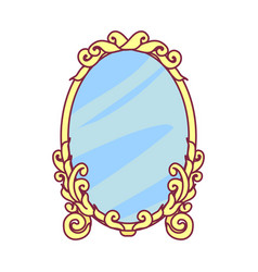 Royal object mirror vector