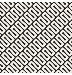 seamless diagonal black and white wavy vector image