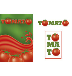 set design graphic with tomato vector image