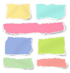 set different shapes blank paper scraps vector image