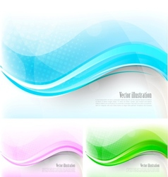 Set of bright tech backround vector image