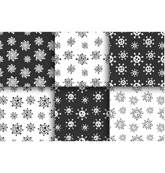 set seamless creative virus patterns vector image